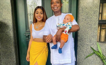 59 years old Ned Nwoko has tendered an emotional Birthday message to his young wife Regina Daniels