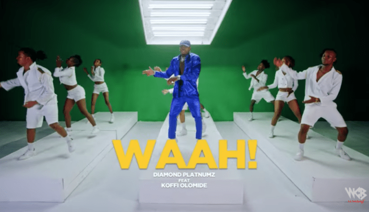 """Diamond Platnumz – """"Waah"""" ft. Koffi Olomide video, JotNaija"""